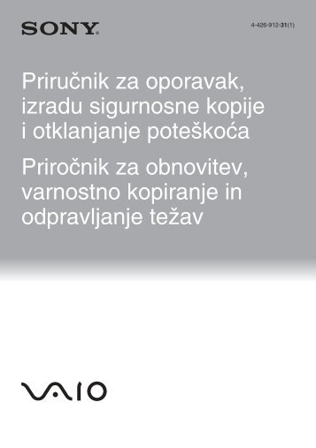 Sony SVT1311C4E - SVT1311C4E Guida alla risoluzione dei problemi Sloveno