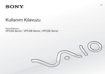 Sony VPCSE1E1E - VPCSE1E1E Istruzioni per l'uso Turco