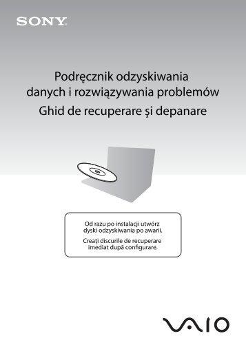 Sony VGN-SR59VG - VGN-SR59VG Guida alla risoluzione dei problemi Polacco