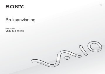 Sony VGN-SR59VG - VGN-SR59VG Istruzioni per l'uso Svedese