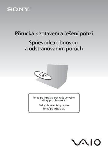 Sony VGN-SR59VG - VGN-SR59VG Guida alla risoluzione dei problemi Ceco