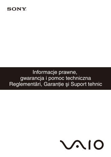 Sony VGN-SR59VG - VGN-SR59VG Documenti garanzia Polacco