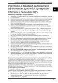 Sony VGN-SR59VG - VGN-SR59VG Documenti garanzia Polacco - Page 5