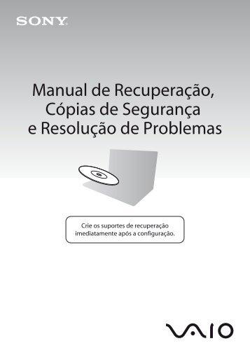 Sony VPCJ12M1E - VPCJ12M1E Guida alla risoluzione dei problemi Portoghese