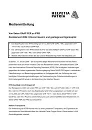 Medienmitteilung IFRS- d - Helvetia