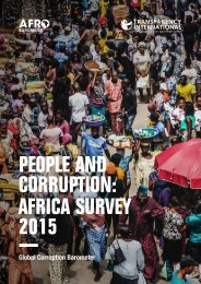 PEOPLE AND CORRUPTION AFRICA SURVEY 2015