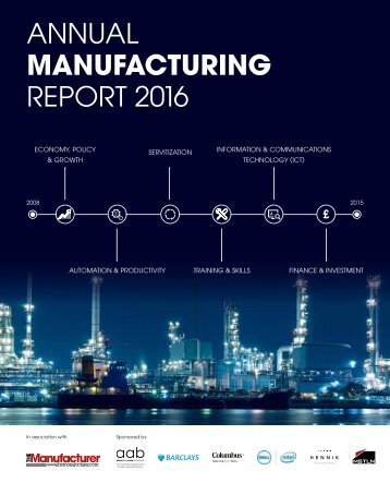ANNUAL MANUFACTURING REPORT 2016