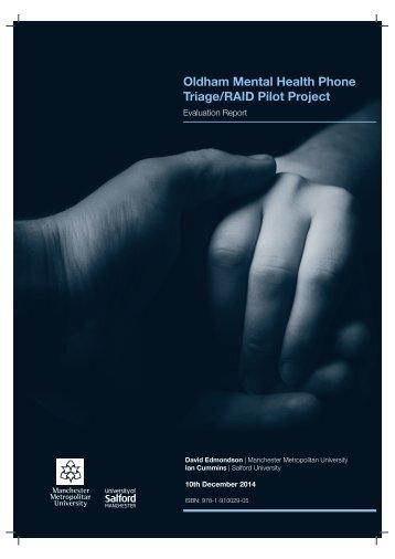 Triage/RAID Pilot Project