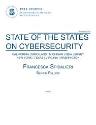 STATE OF THE STATES ON CYBERSECURITY