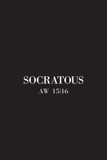 SOCRATOUS AW 15 16 - Lookbook Pages
