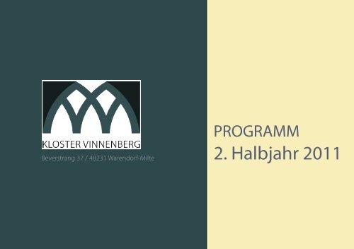 programm_2011_2. Halbj.indd - Kloster Vinnenberg