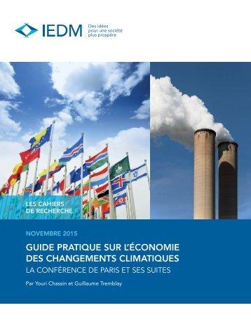 GUIDE PRATIQUE SUR L'ÉCONOMIE DES CHANGEMENTS CLIMATIQUES
