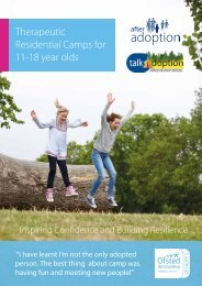 Therapeutic Residential Camps for 11-18 year olds