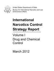 International Narcotics Control Strategy Report - US Department of ...