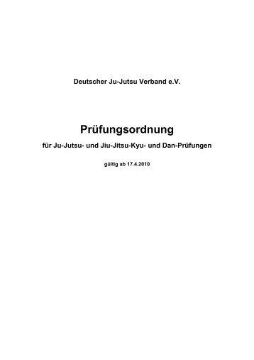 Prüfungsordnung Stand 2010 - DJJV