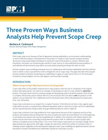 Three Proven Ways Business Analysts Help Prevent Scope Creep
