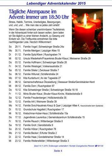 Seite 4. Lebendiger Adventskalender