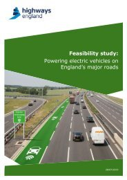Feasibility study Powering electric vehicles on England's major roads
