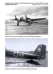 Landung der JU 88 G-6 mit Kennung C9+AR am 30.4.1945 auf dem ...