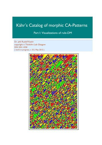 Kähr's Catalog of morphic CA-Patterns, Part I, ruleDM