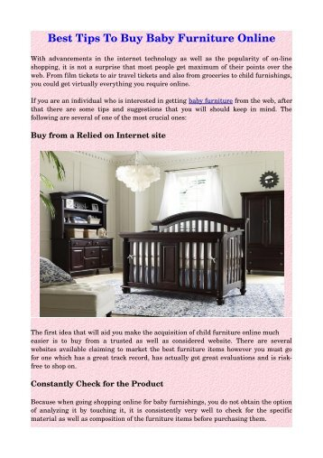Best Tips To Buy Baby Furniture Online