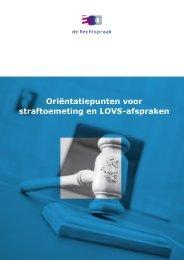 Oriëntatiepunten voor straftoemeting en LOVS-afspraken
