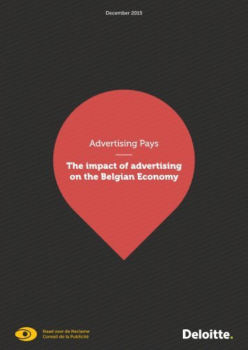 Advertising Pays The impact of advertising on the Belgian Economy