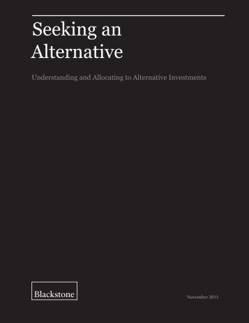 Seeking an Alternative