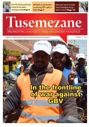 In the frontline of war against GBV