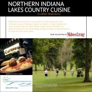 NORTHERN INDIANA LAKES COUNTRY CUISINE