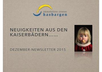 Dezember-Newsletter Versand