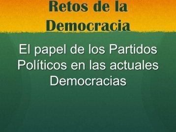 Retos de la Democracia