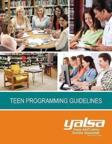 TEEN PROGRAMMING GUIDELINES