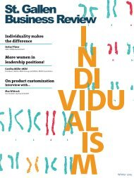 St. Gallen Business Review: Individualism