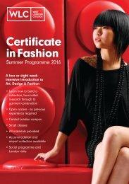 Certificate in Fashion