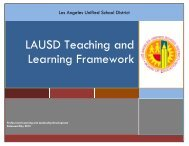 LAUSD Teaching and Learning Framework