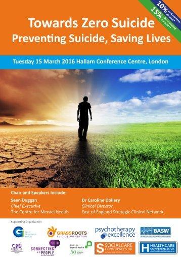 Towards Zero Suicide