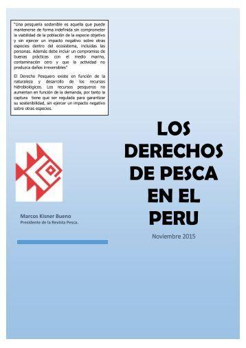 LOS DERECHOS DE PESCA EN PERU