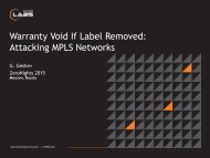 Warranty Void If Label Removed Attacking MPLS Networks