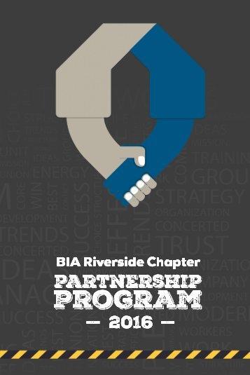 2016 BIA Riverside Partnership Program
