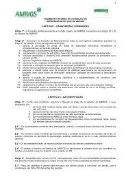 REGIMENTO INTERNO DO CONSELHO DE ... - Amrigs