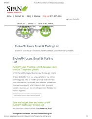 Purchase Tele Verified EvolveFM User Lists from Span Global Services