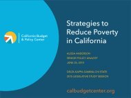 Strategies to Reduce Poverty in California