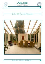 Prospekt EcoSun-Holz-Alu-Wintergarten