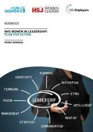 NHS Women in Leadership Plan for action