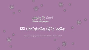 100 Christmas Gift Ideas