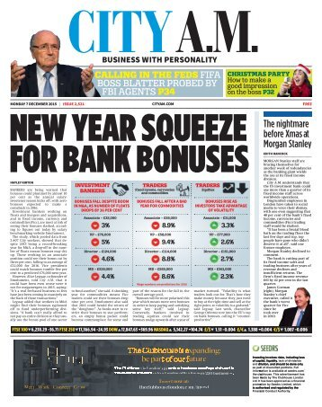 NEW YEAR SQUEEZE FOR BANK BONUSES