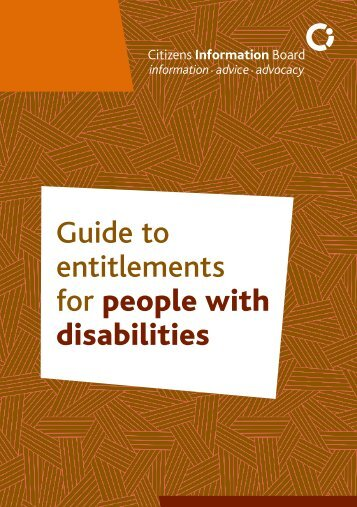 Guide to entitlements for people with disabilities