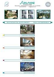 Prospekt Wintergarten-Bauelemente-Technik