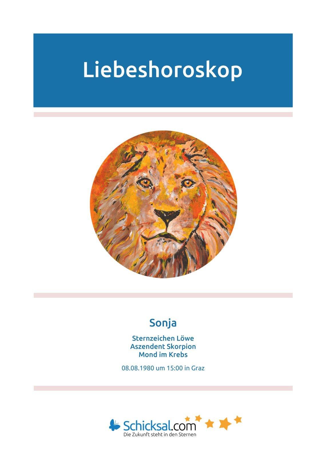 Löwe - Liebeshoroskop